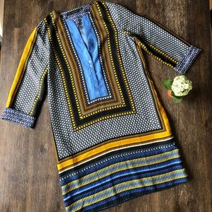 Zara Moroccan scarf tunic kaftan dress